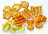 Cluster, crouton, profiled, and rotary cut extruded snacks from Baker Perkins
