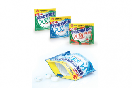 New Mentos packs use Press-Lok closure system