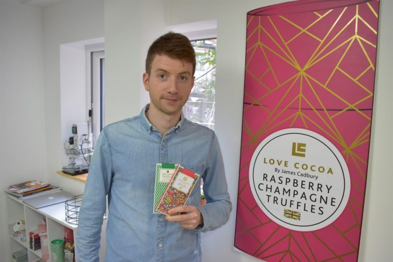 James Cadbury continues family heritage with Love Cocoa confectionery