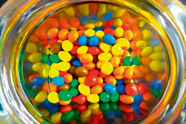 Colourful confectionery