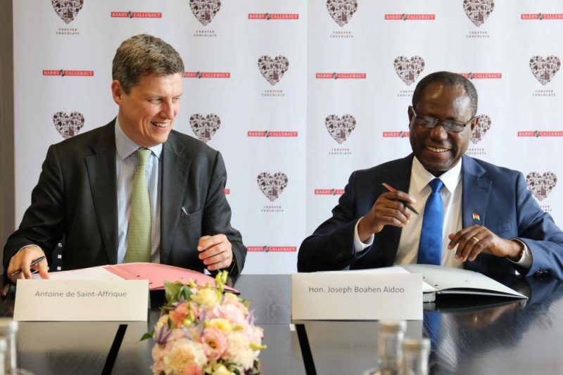 Barry Callebaut signs agreements with Ghana and Ivory Coast on sustainability